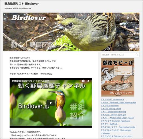 野鳥動画リスト Birdlover